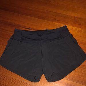 black 4' in. lululemon shorts